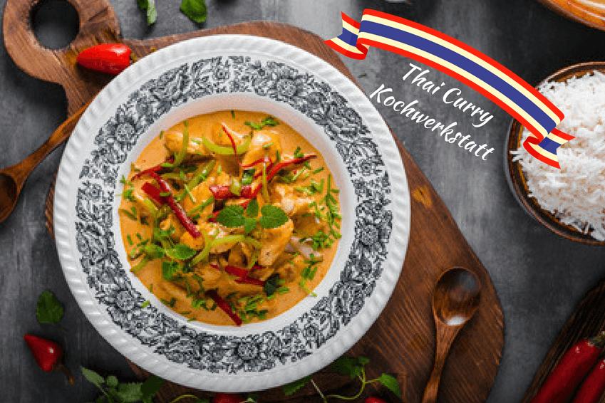 Rezept für rotes Thaicurry mit Huhn | Kochwerkstatt Wiesbaden